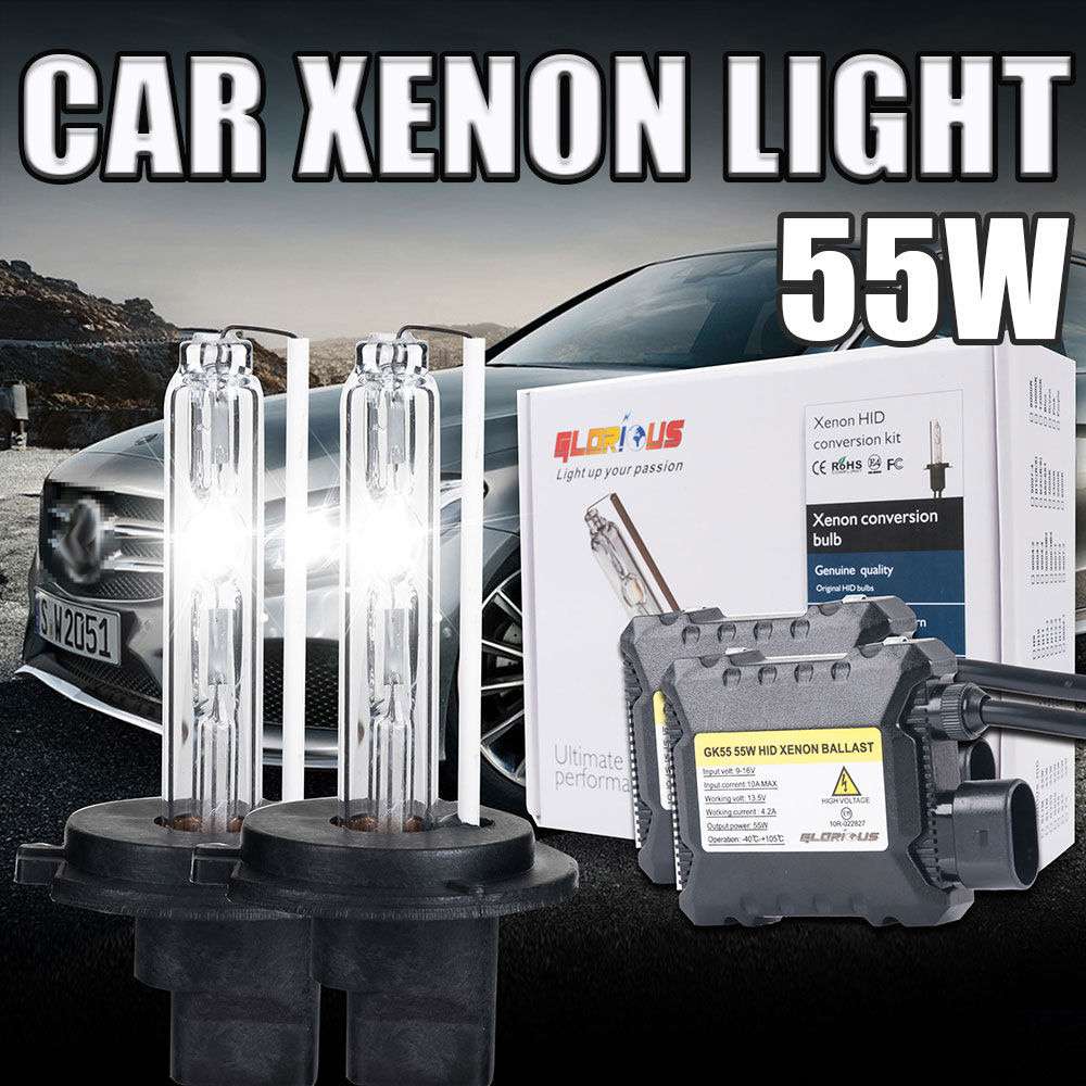 55W Xenon H11 HID kit slim ballast H8 H9 H11 55W hid xenon bulb light 4300k 5000k 6000k 8000k 10000k <br><br>Aliexpress