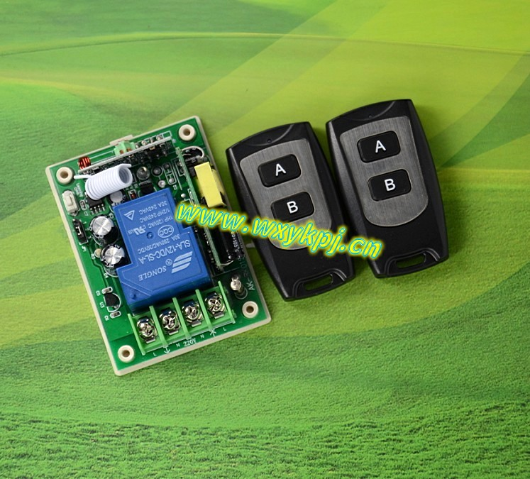 220v high power wireless remote control switch metal black waterproof key<br><br>Aliexpress