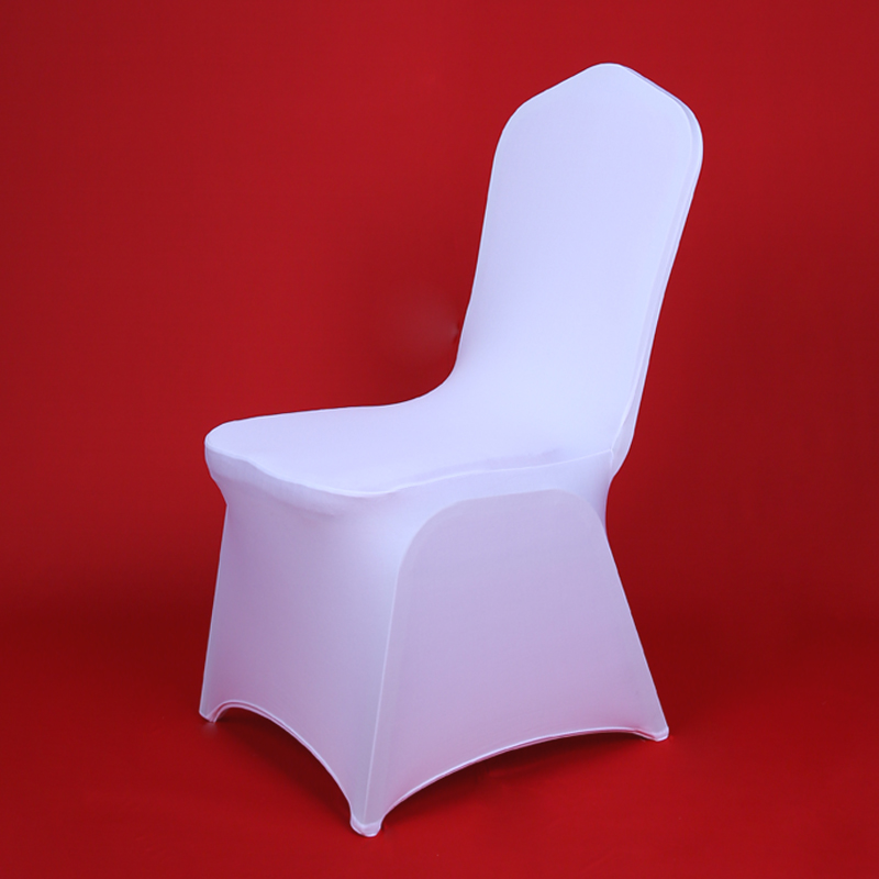 100 Pcs Party White Folding Stretch Lycra Chair Cover Christmas Spandex Covers For Wedding