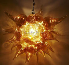 Free Shipping AC Led Small Gold Colored Glass Lamp Traditional Chandelier