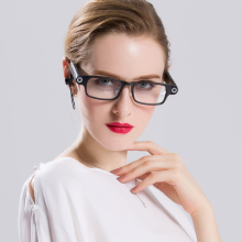 2017 Fashion style Bluetooth Photo video eyeglasses Wireless man woman eyeglasses Camera Glasses Support TF Card emergency light(China)