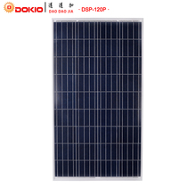 DOKIO Brand Solar Panel China 120W Polycrystalline Silicon Solar Panels 18V 1185*660*30MM Size 120 Watt Solar Battery China