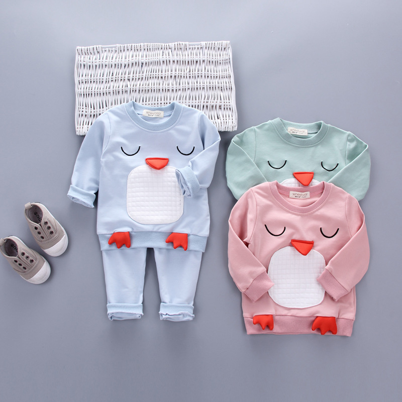 2017 new Spring children girls clothing sets duck early autumn clothes bow tops t shirt leggings pants baby kids 2 pcs suit<br><br>Aliexpress