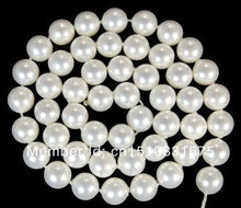 "10mm White AAA South Ocean Shell Pearls Loose Beads 15""xu79"