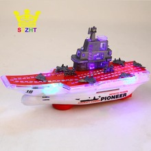 Light Music Universal Aircraft Carrier Model Warship Battleships Electric Military Naval Ship Fighter Kids Children Toys Gifts
