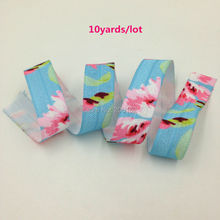 "Buy Floral Print Fold Elastic 5/8"" Flower Print FOE Elastic Ribbon Webbing DIY Headwear Hair Accessories 10yards/lot for $3.19 in AliExpress store"