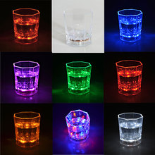 LED Colorful Flashing Light Cup Magic Led Champagne Glass Flash Wine Beer Bar Mug Drink Cup for Party Wedding KTV 2016(China)