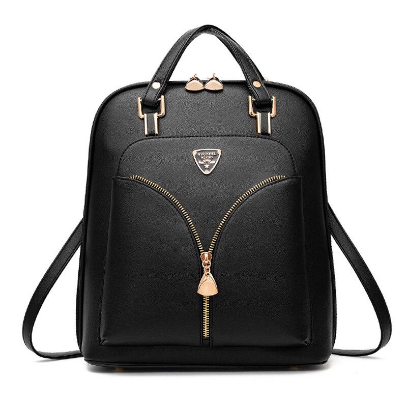 Nevenka Anti Theft Leather Backpack Women Mini Backpacks Female Travel Backpack for Girls School Backpacks Ladies Black Bag 201808