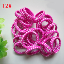 8Pc/Set Hot Sell Korean Leopard High Elastic Cotton String Print Hair Bands Women's Hair Elastics Bands Gril Hair Accessories(China)
