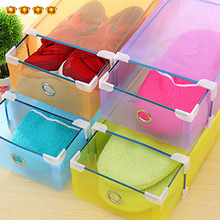 Multicolour thickening transparent clamshell shoebox plastic shoes long boots storage box finishing(China)