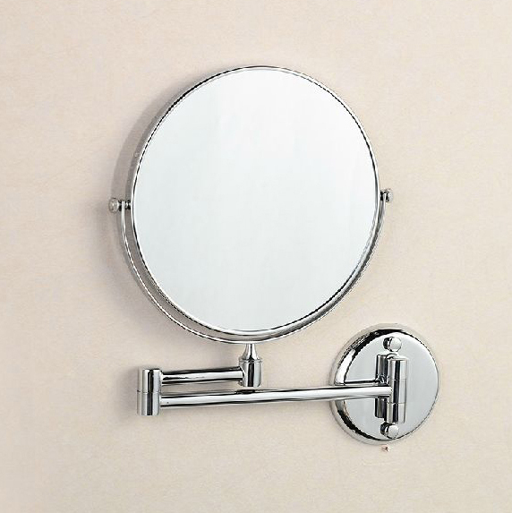 OWOFAN Bath Mirrors 8 Dual Makeup Mirrors 1:1 and 1:3 Magnifier Copper Cosmetic Bathroom 2-Faced Wall Mount Bath Mirror 1308<br>