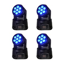 4pcs rgbw moving head stage light 7x12W led DMX Wash dj stage light disco party light moving heads(China)