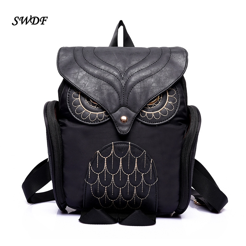2017 Korea Style Women And Mens Backpack Hipster Canvas Owl Backpack School Bags For Teenagers Patchwork Leather Cover Backpack<br><br>Aliexpress