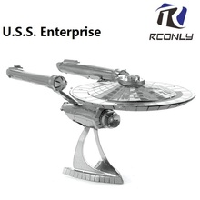 Best 3D Laser cutting For U.S.S. Enterprise DIY Metallic Models puzzle toys For Star Trek Model Building Kits Nano Puzzle Toys