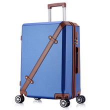 20 24 Inch Rolling Luggage Business Travel 4 Wheels Suitcases Bag Waterproof High Quality Retro Trolley Case Large capacity