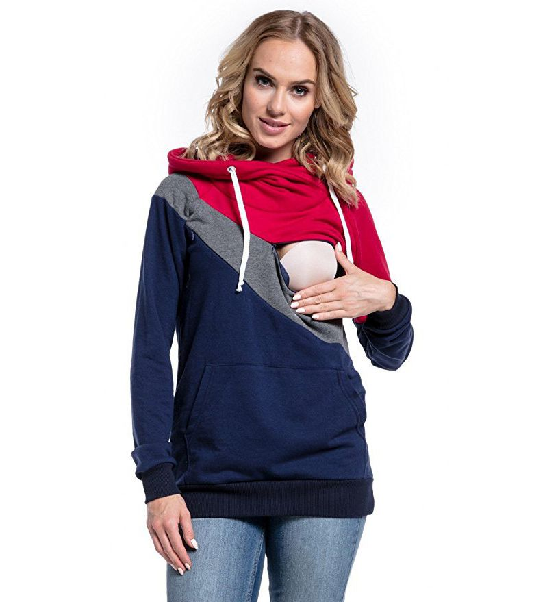 Plus-Size-Pregnancy-Nursing-Long-Sleeves-Maternity-Clothes-Hooded-Breastfeeding-Tops-Patchwork-T-shirt-for-Pregnant (1)