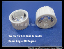 30 Degree Beam Angle Led Lens + Holder for 1W, 3W 5W High Power Led(China)