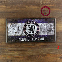 """CHELSEA"" FOOTBALL CLUB. PRIDE OF LONDON. vintage tin plate signs metal painting wall decoration for bar cafe garage home pub"