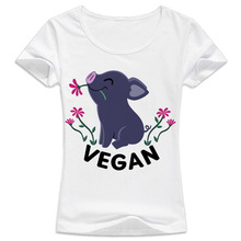 Buy Vegan Happy Piglet T-shirt Women Plant clothing vegetarian kawaii Tshirt cute pig printed Short Sleeve female T shirt WT578 for $6.32 in AliExpress store