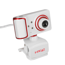 USB2.0 16MP Pixel 180 Degrees Rotatable HD Webcam Digital Video Clip-on Web Camera with Mic 3 LED for Skype PC Laptop Desktop TV