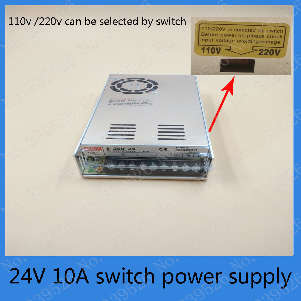 24V 10A DC power supply switch power supply for laser engraving machine stepper motor driver <br>
