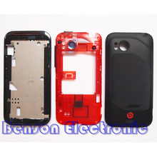 BaanSam New Front Frame Middle Frame Battery Back Cover For HTC Rezound Vigor Ruby 2 Housing Case With Side Buttons+Camera Lens