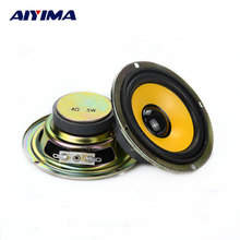 2Pcs 3Inch 4Ohm 5W Full-Range Tweeter Seakers Loudspeaker Sereo Round Multimedia Radio Mini Portable Speaker