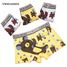 5pcs/lot Cute Bear Boys Boxer Shorts Cotton Boy's Underwear Clothing Good Panties For Teenagers Baby Boy Panties On Briefs Boys(China)