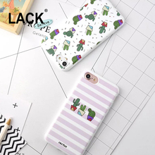 Cute cartoon Plants Cactus Case For iphone 6 Fashion Zebra Stripe Phone Cases For iPhone 6S 7 7Plus Soft Back Cover Fundas Capa