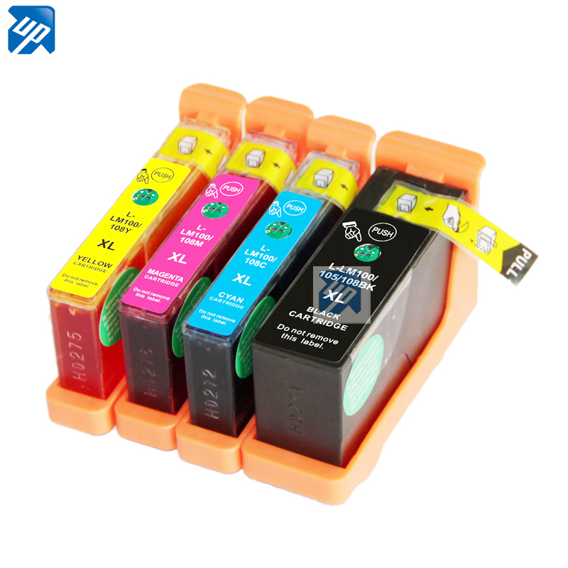 3sets Compatible Ink Cartridge For Lexmark 100xl 105xl 108xl for s408 S305 S405 S505 S508 S605 S608 printer with chip full ink