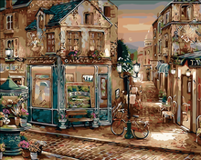 Acrylic European Style Picture Painting By Numbers On Wall DIY Oil Painting Corner Gallery Coloring By Number Canvas