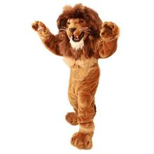 2017 hot sale Lion Mascot Costume Adult Size Wild Animal Male Lion King Carnival Party Cosply Mascotte Suit Kit EMS FREE SHIP