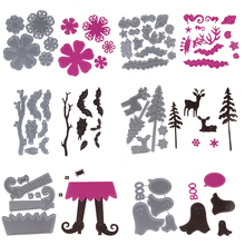 Customize Flower Cutting Dies Metal Embossing Stencil Greeting Cards Die Craft For DIY Cards Album Book Scrapbooking Decoration