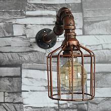 Antique Edison Water Pipe Wall Lamp Vintage In Loft Style Industrial Wall Light Single Lights Fixtures Wall Sconce Apliques(China)
