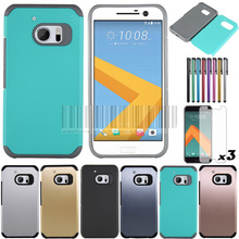 Mix Color TPU+PC Slim Anti-shock Rugged Armor Case Hard Protective Cover For HTC 10/One M10 With Stylus+Films