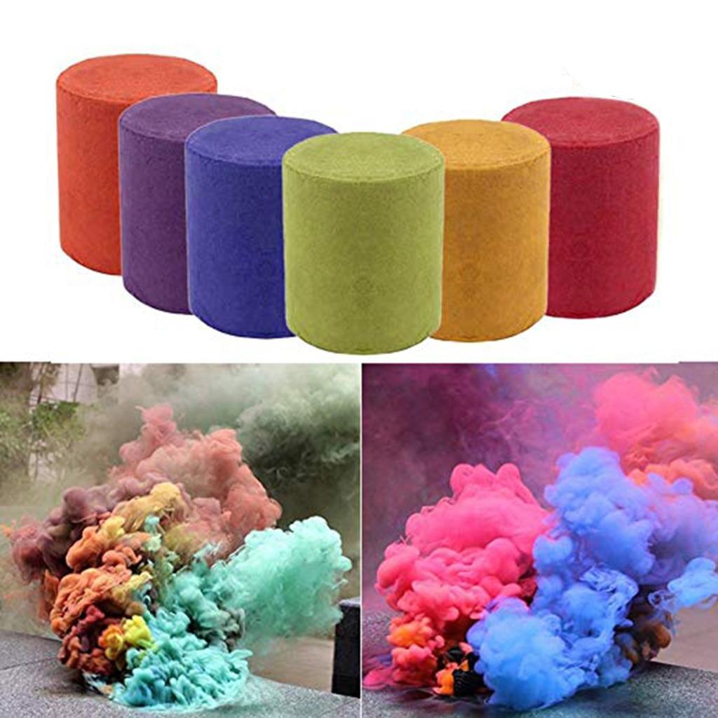 10Pcs Smoke Cake Colorful Smoke Effect Show Round Cake Stage Photography Aid Toy