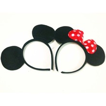 10pcs Girls Baby Mickey & Minnie Headbands Children Birthday Party Hair Accessories Bow Knots Kids Boys Lady Christmas Hairbands(China)