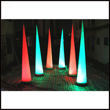 Free shipment 3m 2018 hot selling new style party decoration inflatable cone with led light