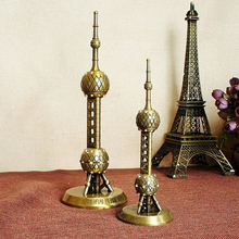 Modern World Famous Statue Figurines Miniature The Oriental Pearl TV Tower In Shanghai China Home Decoration Furniture 18/25cm