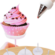 LINSBAYWU 4pcs/set Cake Cupcake Stand Icing Cream Decorating Tool Cake Flower Needle Nail Baking Tools Free Shipping(China)