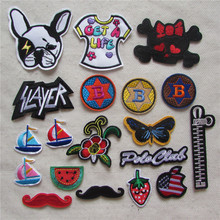 hot sell brand new high quality fashion hot melt adhesive applique embroidery patches stripes DIY clothing accessory C5360-C5382