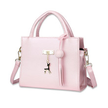 PU Leather Shoulder Bag with Pendant Graceful Advanced Women Shoulder Bag Vogue Charming Flap Lady Girl Casual Crossbody Bags