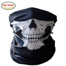 Halloween Cosplay Bicycle Skull Mask Skeleton Ghost Half Face Mask Scarf Neck Warmer Motorcycle Hat Headband