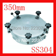 New arrival 350mm SS304 Circular manhole cover with pressure Round tank manway door Height:100mm Hatch