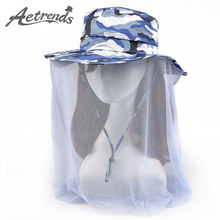 [AETRENDS] 2017 Summer Hat Camouflage Mesh Sun Hats for Women or Men Travel Cap Z-5093()