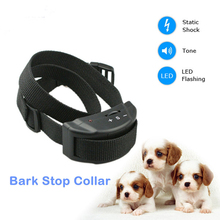 No Bark Electronic Collar Anti Dog Bark Collar With 7 Levels Shock sound adjustable for middle and small Dog Bark Stop(China)