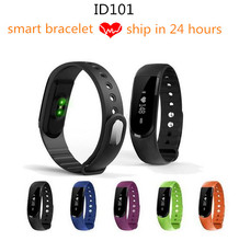 ID101HR Bluetooth 4.0 Smart Band Wrist Bracelet fitness tracker heart rate monitor smartband wristband for iPhone Xiaomi phone(China)
