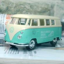6pcs/lot WELLY 1/36 Scale Germany 1962 Volkswagen Bus (60 th Anniversary Edition) Diecast Metal Car Model Toy New In Box(China)