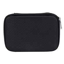 Shockproof 2.5 inch External HDD Carrying Case Stripes Pattern Hard EVA PU Carrying Case Bag Portable HDD Lightweight Black