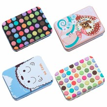 Mini Kawaii Cute Cartoon Tin Metal Box Home Storage Organizer Case For Jewelry Kids Toy Gift Home Supplies